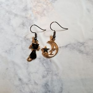 Hand Crafted Jewelry - CAT & MOON | Enamel Earrings Stainless Steel